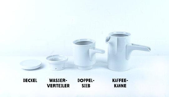 Favorit Bayreuther Kaffeemaschine für Filterkaffee | 2 oder 4 Tassen | P XY29