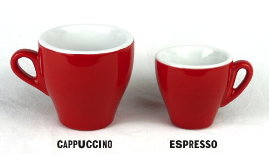 Cappuccino-Tasse rot »Milano« | groß & dickwandig | Nuova Point (155 ml)