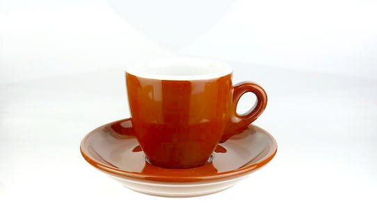Extra dickwandige (8 mm) Espresso-Tasse »Bar Italia« (»Palermo«) | mittelbraun | Nuova Point (56 ml)