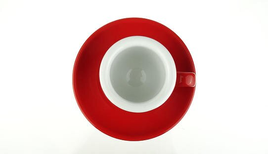 Extra dickwandige (8 mm) Espresso-Tasse »Bar Italia« (»Palermo«) | rot | Nuova Point (56 ml)