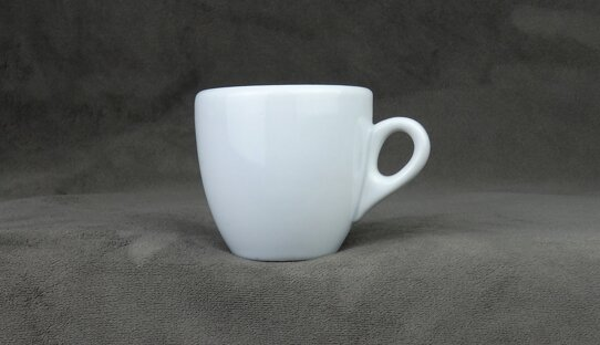 2. Wahl: Extra dickwandige (10 mm) Espresso-Tasse »Bar Italia« (»Palermo«) | weiss | Nuova Point (56 ml)