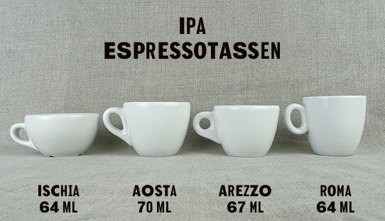 Espresso-Tasse »Roma lungo« | weiss | Made in Italy | I.P.A. (100 ml)