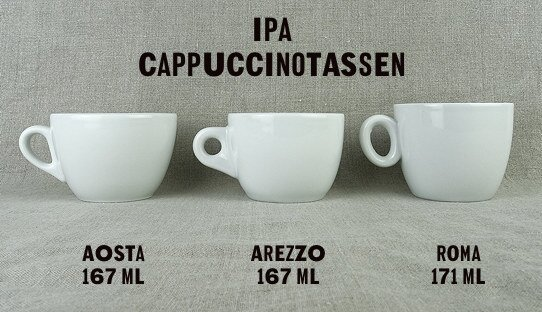 Cappuccino-Tasse »Roma« | weiss | Made in Italy | I.P.A. (171 ml)