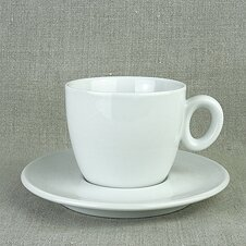 Cappuccino-Tasse »Roma« | weiss | Made in Italy | I.P.A....