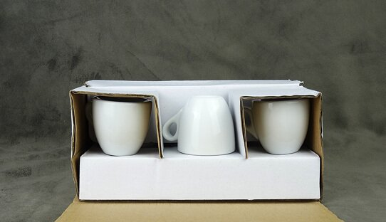 Extra dickwandige (8 mm) Espresso-Tasse »Bar Italia« (»Palermo«) | weiss | Nuova Point (56 ml)