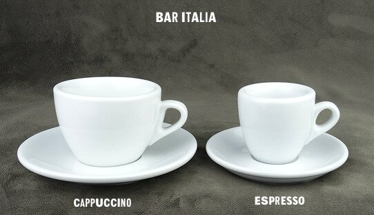 Dickwandige Cappuccino-Tasse »Bar Italia« (»Palermo«) | weiss | Nuova Point (145 ml)