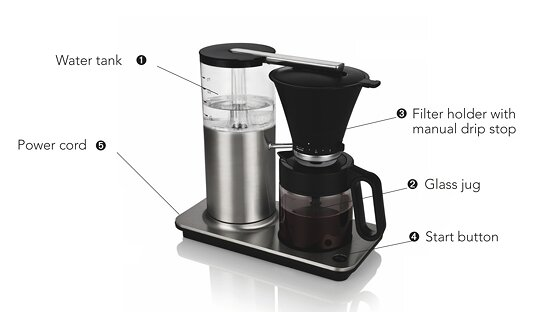 Wilfa Filter Kaffeemaschine schwarz | »Classic+« | CMC-1550B | Made in Norway