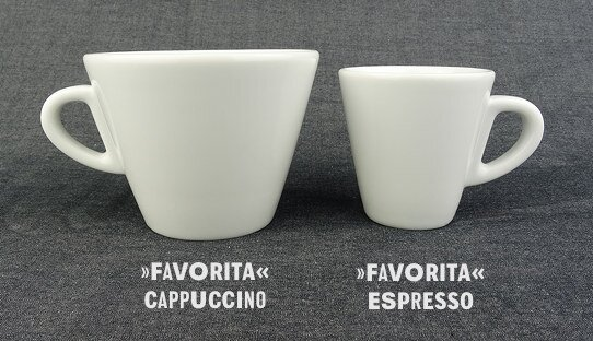 Cappuccino-Tasse »Favorita« | weiss | Made in Italy | Ancap (190 ml)