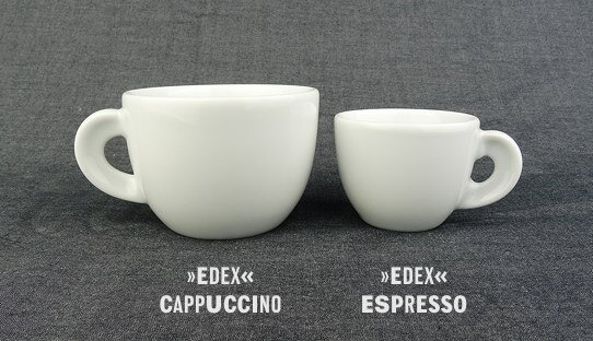 Cappuccino-Tasse »Edex« | weiss | Made in Italy | Ancap (190 ml)