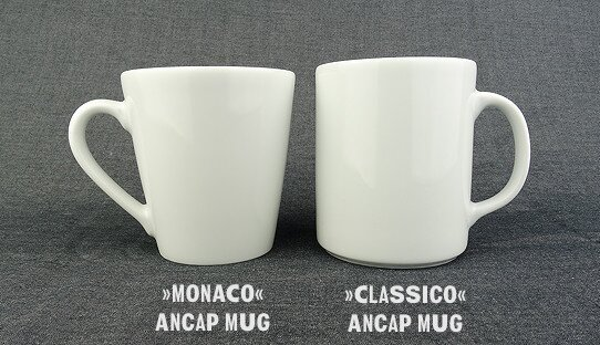 Becher Mug | Porzellan | »Monaco« | weiss | Made in Italy | Ancap (280 ml)