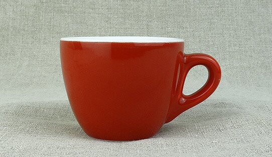 Rote extra dickwandige (0,8 cm) Espresso-Tasse »Aosta« | rot | Made in Italy | I.P.A. (max. 70 ml)