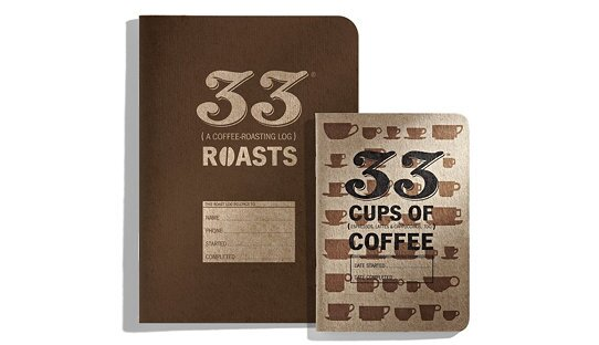 Notizheft Journal für Degustationen | »33 cups of coffee« | Dave Selden | Made in USA