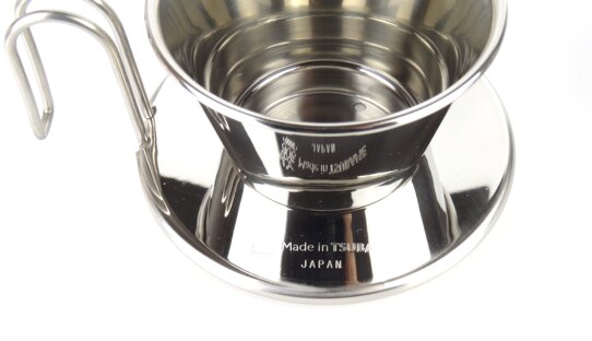 Kalita Hand-Kaffeefilter | Wave #185 | Tsubame WDS | Edelstahl | Made in Japan