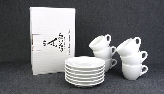 Espresso-Tasse »Verona classic« | weiss | Made in Italy | Ancap (max. 75 ml)