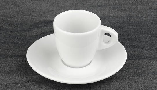 Dickwandige Espresso-Tasse »Galileo alta« | weiss | Made in Italy | Ancap | max 80 ml