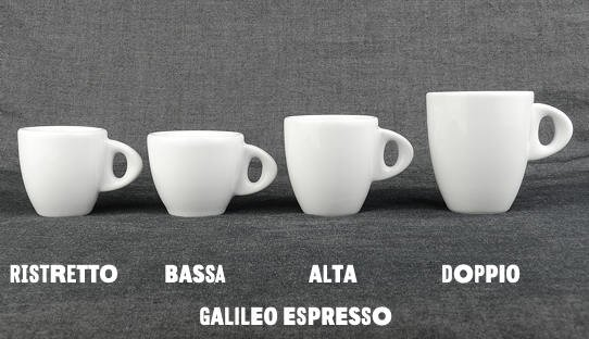 2. Wahl: Dickwandige Espresso-Tasse »Galileo bassa« | weiss | Made in Italy | Ancap | max 55 ml
