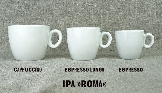 2. Wahl: Cappuccino-Tasse »Roma« | weiss | Made in Italy | I.P.A. (171 ml)