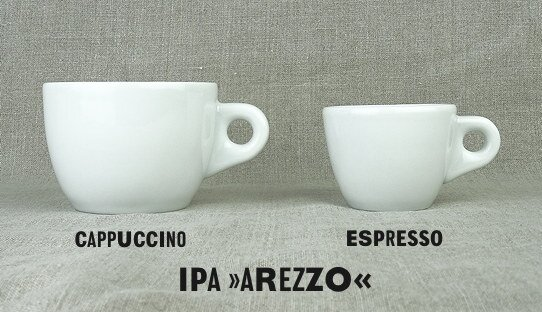2. Wahl: Espresso-Tasse »Arezzo« | weiss | Made in Italy | I.P.A. (max. 67 ml)