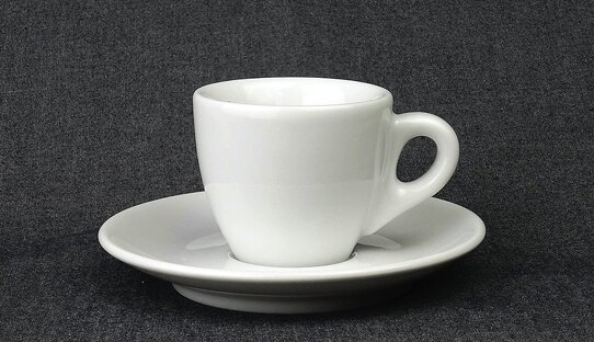 Extra dickwandige (8,5 mm) Espresso-Tasse »Palermo« | weiss | Made in Italy | Ancap (max. 55 ml)