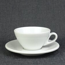 Cappuccino-Tasse »Ancona« | weiss | Made in Italy | Ancap...